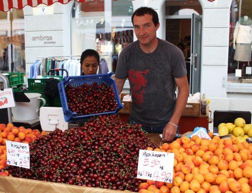 Neue Früchte der Saison im Juli